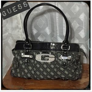 Guess Grey and Black Purse